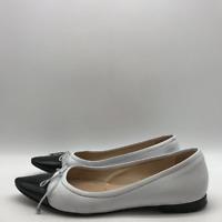 Manolo Blahnik White Pointy Flat 8.5