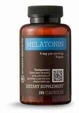 Amazon Elements Melatonin 5mg, Vegan, 195 Capsules, Sealed Exp 9/2019 FREE SHIP!