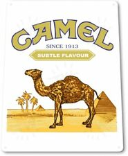 Camel Smoking Tobacco Cigarette Retro Vintage Wall Decor Man Cave Metal Tin Sign