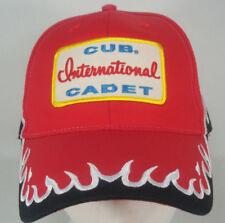 Vtg Cub Cadet International Red Flames Otto Quality Headwear Cotton Hat
