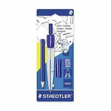 Staedtler 550 60 BK compás Escolar Con Adaptador Universal, caja de plomo y Lápiz