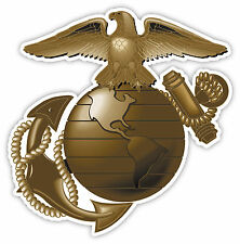 "US Marine Corps USMC Marines Eagle Globe and Anchor sticker decal 4"" X 4"""
