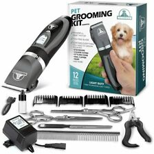 Pro Pet Grooming Clipper Kit Thick Hair Complete Set Heavy Duty Dog Groom Wahl