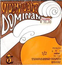 "THOMASTIK-INFELD 1/2 SIZE VIOLIN SINGLE ""G"" STRING 133 DOMINANT SYNTHETIC CORE"