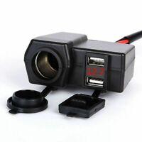 Waterproof 12V Motorcycle Motorbike USB Charger Power Adapter Socket Phone GPS