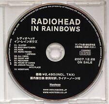 RADIOHEAD In Rainbows Rare 2007 Japan 10-Track DJ CD Thom Yorke