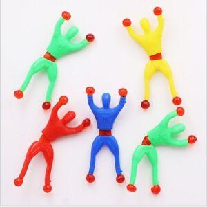 Sticky Wall Climbing Flip Rolling Men Climber Spiderman Kids Toy Favors