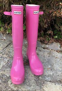 Ladies Hunter Wellies Wellington Boots Pink UK 7 EU40/41