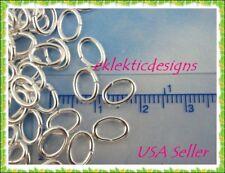 8x5mm 25pcs Silver Plated Oval Jump Rings Jewelry Findings Open Split Earrings