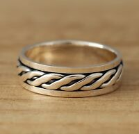 925 Sterling Silver Celtic Spinning Band/Thumb Ring 7mm Wide Mens/Womens