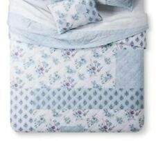 Simply Shabby Chic Blue Dascha Patchwork ~ TWIN ~ Floral Quilt Only