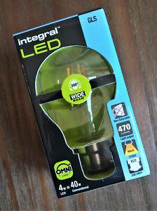 Integral LED E27 Classic Globe (GLS) 4.6W (40W) Warm White Light Bulb A++