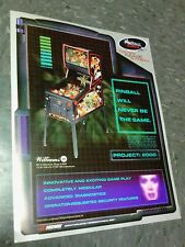 Rare Williams flyer for  REVENGE FROM MARS Pinball 2000 flyer- good original