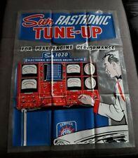 RARE Vtg Sun Rastronic Tune Up Shop Sign 1020 Electronic Diagnosis Engine Tester