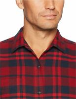 Essentials Men's Regular-Fit Long-Sleeve Plaid, Red Plaid, Size XX-Large