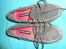 Oliberte black suede Niami leather boat shoes flats display size 7M New no box