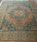 SUPERB ANTIQUE 1880s TABRIZZ HAJJALILII HAND KNOTTED WOOL ORIENTAL RUG 9x13
