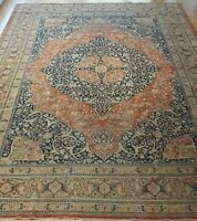 9' x 13'  Antique Tabrizz Hand Knotted Wool Veg. Dyes Oriental Rug ca. 1880s