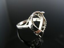 5621 Ring Setting Sterling Silver, Size 6.75, 13x9 Mm Pear Stone