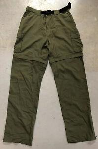 Boy Scouts Switchback Uniform Pants Shorts Women Size Large 33 Green Nylon