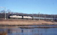 AMTRAK Railroad Locomotive 27 288 LEETES ISLAND CT Original 1999 Photo Slide
