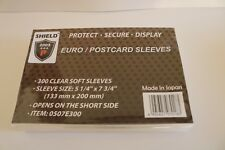 "Shield 300 Sleeves 5 1/4"" x 7 3/4"" for Euro Fdcs, Postcards, S/S. (0507E300)."