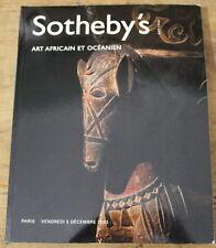 2003 ✤ ART AFRICAIN & OCÉANIEN ✤ Sotheby's ✤ Fort Catalogue du 5 Déc. 2003