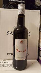 Altes Etikett: Moscatel Muskateller 0,75l 15%vol Spanischer Süßwein wie früher