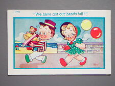 R&L Postcard: Comic, Trow, 1950's Children, Balloon Stick of Rock