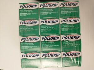12 Super POLIGRIP Denture Adhesive Cream Zinc Free Travel Size.35 oz Tube. NEW
