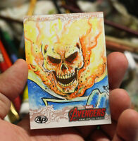 Upper Deck Avengers Age Of Ultron Sketch Card Art Ghost Rider Marvel Comics 1/1