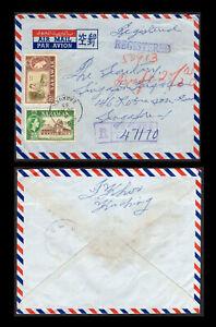 Malaya/Malaysia Sarawak 1963 registered cover, Kuching to Singapore.