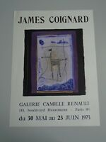 AFFICHE JAMES COIGNARD GALERIE CAMILLE RENAULT  1973    36x50cm LITHOGRAPHIE