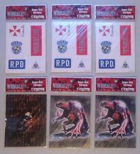 6pc 1999 Artbox Resident Evil Super-Size Stickers NIP Capcom