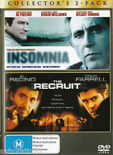 INSOMNIA / THE RECRUIT DVD R4 Collector's 2-Pack - Robin Williams - Al Pacino