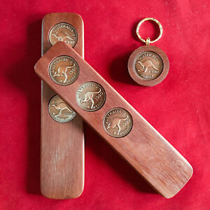 1980 Birthday Anniversary Gift Present Two-Up Game & Penny Keyring Gift Pack