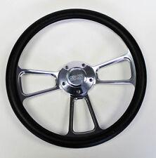 "Chevelle Nova Camaro Impala 14"" Steering Wheel Black Billet SS Center cap"