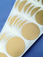 """25 Round 1"""" inch GOLD SCRATCH OFF STICKERS LABELS TICKETS PROMOTIONAL GAME FAVOR"""