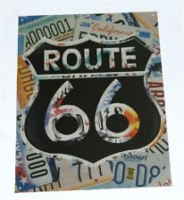 Route Rte 66 Metal Tin Collectible Garage Bar Sign NEW