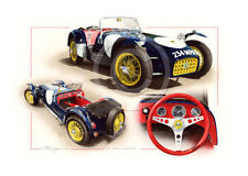 LOTUS 7 SEVEN SERIES 1 CATERHAM 7 1957 NEW PAINTING PRINT ART CHRISTOPHER DUGAN