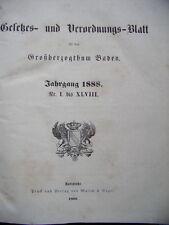 Gesetzes- Verordnungsblatt für das Großherzogthum Baden 1879 Nr. I. bis LXIV.