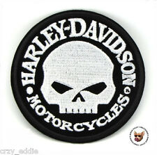 HARLEY DAVIDSON WILLIE G SKULL VEST PATCH **MADE IN USA** DEATH SKULL MOTORCYCLE