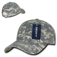 Universal Digital Camouflage Camo Army Washed Cotton Polo Baseball ACU Cap Hat