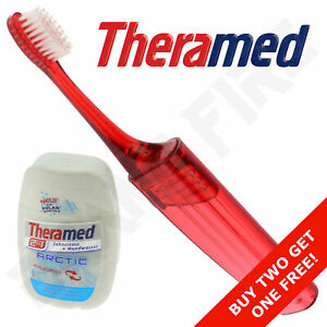 Folding Travel Toothbrush & Theramed Toothpaste & Mouthwash - Holiday Festival