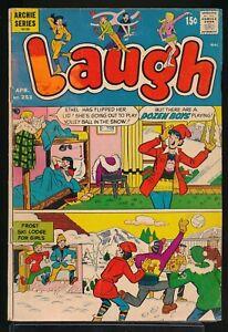 LAUGH COMICS No. 253 1972 Archie Comic Book SKI LODGE for GIRLS GGA Cover GD/VG
