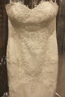 NWT Size 18 Ivory lace long formal bridal gown wedding dress, fit n flair $1099.