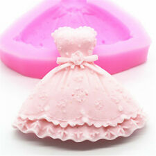 FD3129 Princess Dress Silicone Fondant Cake Mold Chocolate Baking Sugarcraft ☆