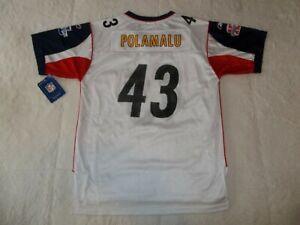 NWT TROY POLAMALU #43 PITTSBURGH STEELERS REEBOK SUPER BOWL JERSEY BOYS XL 18-20