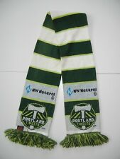 PORTLAND TIMBERS Green/White MLS SOCCER SCARF Warm Winter Match Day Oregon