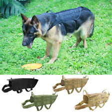 Tactical Military Dog Coat Training Harness with Mesh Padding and Two Handles